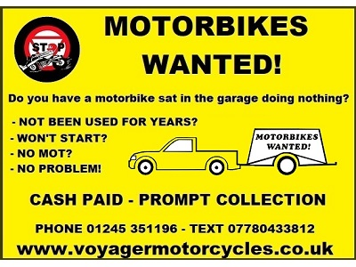 Motorbikes Bought for Cash!