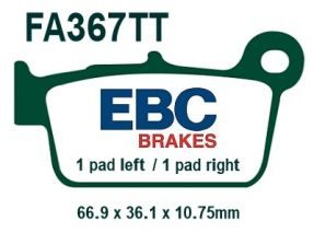 YZ/YZF REAR EBC BRAKE PADS